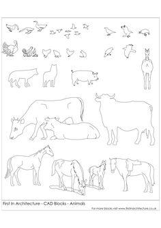 FIA CAD Blocks animals