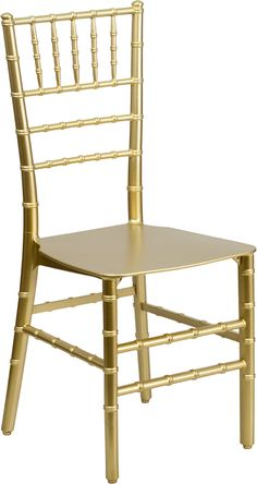 Gold Resin Stacking Chiavari Chair