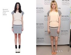 Emma Stone In Daniel Vosovic - Revlon's Nearly Naked Makeup Launch