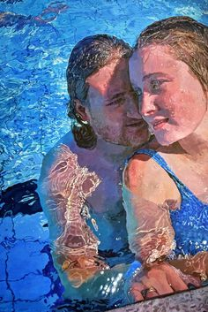 FINEARTSEEN - View Poolside by Abi Whitlock. An original realism underwater painting. Available on FineArtSeen - The Home Of Original Art. << Pin For Later >> Original Art, Original Paintings, Underwater Painting, Shimmer Lights, Acrylic Painting Canvas, Paintings For Sale, Figurative Art, Fine Art Photography, New Art