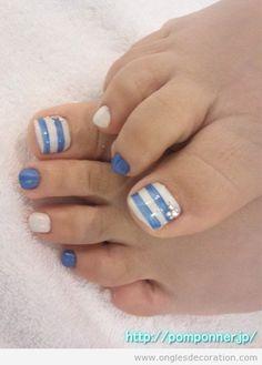 Déco ongles pieds, pédicure pour l'été 2