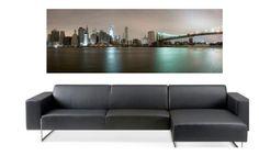 Capture the magic of lower Manhattan at night! $99, Elementem Photography, 20x60inches (50x150cm), canvas, New York, New York City, NY, Manhattan, cityscape, skyline, skyscraper