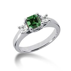 My emerald engagement ring!  SO in love with it!