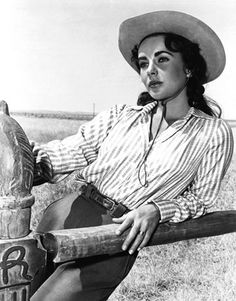 Elizabeth Taylor in Giant. One of the most beautiful women to ever live. (according to my dh, not me. I've seen as beautiful in the streets of everyday)