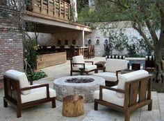 Designed by MTLA- Mark Tessier Landscape Architecture; Exterior Design, Interior And Exterior, Santa Monica, Contemporary Patio, Outdoor Furniture Sets, Outdoor Decor, Outdoor Areas, Outdoor Entertaining, Outdoor Living