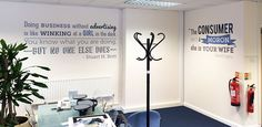 Environmental graphic design sayings and quotes for the wall by Vinyl Impression - http://www.vinylimpression.co.uk/pages/consumer-insight
