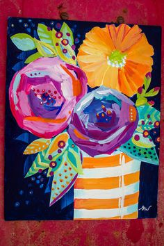 Study of Abstract Flowers No. 07 by AlaskanGrace on Etsy