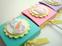 Easter Lollipop Favors, Pastel Bunnies, Set of Ten by Simple Treats
