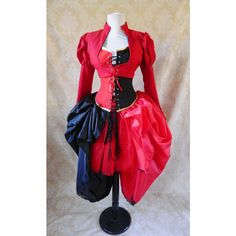 Harley Quinn Two Skirt Bustle Tie on Skirt and Tutu Set-to Fit Up to a... ($110) ❤ liked on Polyvore featuring fancy ties, lace tie, neck ties, red neck tie and ribbon tie