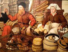 English: Jan van Horst - Market Scene (Museum of Fine Arts, Budapest). Magyar: Jan van Horst piaci jelenet című festménye a Szépművészeti Múzeumban.