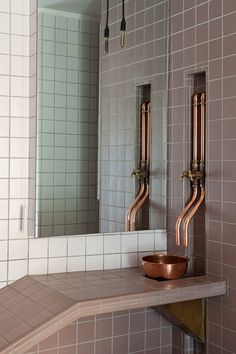 Home Plumbing Systems. Leaky Sink Tail Pipe DoItYourself Com Community Forums. Simple Instructions On Kitchen Sink Drain Installation . Home Improvement Ideas Copper Bathroom, Industrial Bathroom, Modern Bathroom, Beautiful Bathrooms, Small Bathroom, Bad Inspiration, Bathroom Inspiration, Bathroom Ideas, Bathroom Designs