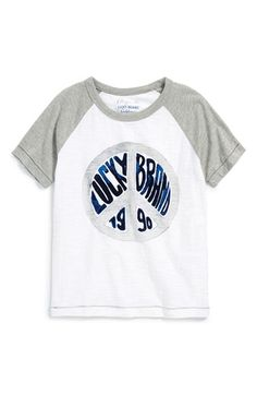Lucky+Brand+'Peace'+Raglan+T-Shirt+(Big+Boys)+available+at+#Nordstrom