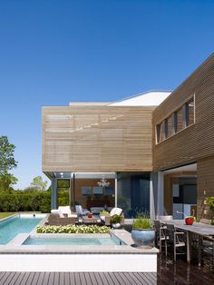 Modern summer house, Quogue, NY. Austin Patterson Disston Architects.