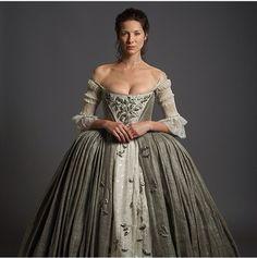 Outlander Wedding dress Costumer: Terry Dresbach