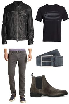Identity, Leather Jacket, Belt, Digital, Concert, Jeans, Link, T Shirt, Jackets