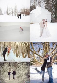 Holiday and winter wedding photos