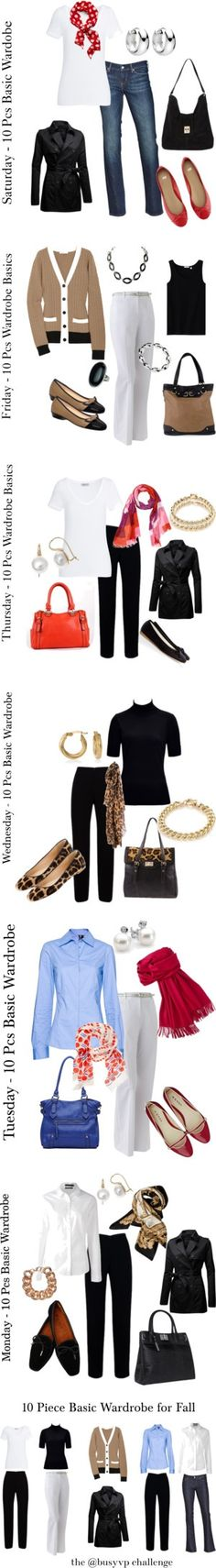 10 Piece Basic Fall Wardrobe by annabouttown ❤ ...