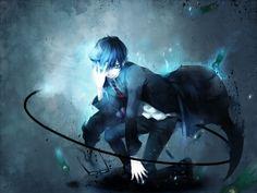 black exorcist anime | Ao no Exorcist, anime, Ao no Exorcist, black hair, blue, cool, male ...