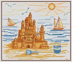 Cross Stitchers Club - Sand Castle