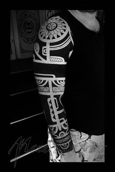 Maori Black Geométrica – Fotos de Tatuagens #marquesantattoosblack #marquesantattoosart