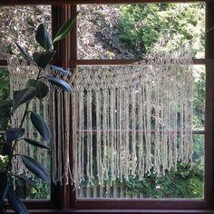 Dusty Ivory Handmade Macrame Hanging.  Window Hanging or Wall Hanging.