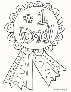 Fathers Day Coloring Pages - Doodle Art Alley Fathers Day Art, Fathers Day Poster, Fathers Day Crafts, Happy Fathers Day, Love Coloring Pages, Dinosaur Coloring Pages, Easter Coloring Pages, Coloring Sheets, Adult Coloring