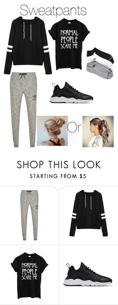 """Sweatpants"" by jno712 ❤ liked on Polyvore featuring adidas Originals, NIKE and adidas"