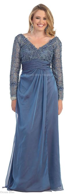 PLUS SIZE MOTHER of BRIDE GOWN FORMAL EVENING CRUISE BANQUET EVENT FUNERAL DRESS #Designer #Dress