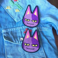 Bob the cat iron on patch, Animal Crossing patch, Bob embroidered patch, Animal crossing pin Cute Patches, Pin And Patches, Iron On Patches, Animal Games, My Animal, Bob Animal Crossing, Painted Jeans, Cute Pins, Crochet Animals