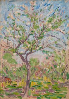 "Twentieth Century British Art by Arthur Studd: ""Blossom, circa Art Society, Paul Gauguin, Tahiti, Victorian, Fine Art, Gallery, Florals, Nature, British"