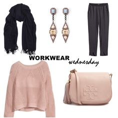 Workwear wednesday inspiration collage fashion h&m tory burch mawi classic chic office preppy