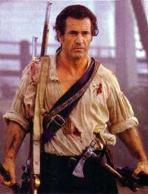 Mel Gibson as Benjamin Martin in The Patriot.  This movie proves how important the 2nd Amendment is to Americans.