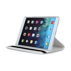7,90€ chez cpix.fr une Housse de protection blanche à rotation 360° pour iPad Air, utilisation possible en mode portrait ou en mode paysage coque rigide à l'intèrieure et systeme de rotation à 360°