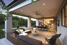 I just viewed this inspiring Drysdale 30 Alfresco image on the Porter Davis website. Check it out yourself and get inspired! - All For Garden Treehouse Masters, Alfresco Designs, Outdoor Living Rooms, Marquise, New Home Designs, Patio Design, Backyard Patio, My Dream Home, House Plans
