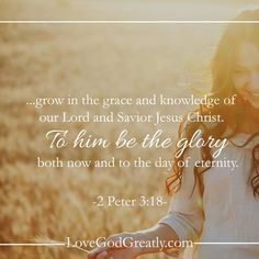To Him be the glory!