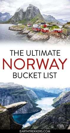 Norway Bucket List: best things to do in Norway. Includes the fjord region, Trolltunga, Kjeragbolten, Lofoten Islands, Svalbard, Oslo, Bergen, Tromso, Pulpit Rock and more. #norway #bucketlist