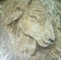 love this painting!!! Sheep painting  Fine art giclee print of a sweet by pinkgloves2, $265.00