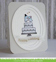 """LAWN FAWN HAPPY WEDDING   """"HAPPY WEDDING"""" CARD (VIDEO)   Nichol Magouirk"""