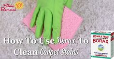 Borax is generally thought of as a laundry booster, but you can also use borax to clean carpet. Find out how here with step by step instructions and a recipe.