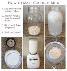 Save money with this easy coconut milk recipe. It's simple and you get free coconut flour! You'll be happy to learn this simple trick from BrenDid.com.