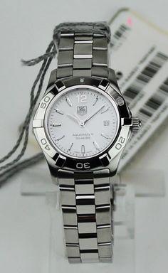 "TAG Heuer Women's WAF1414.BA0823 ""Aquaracer"" Stainless Steel Watch Retail $1700 #TAGHeuer #LuxuryDressStyles"