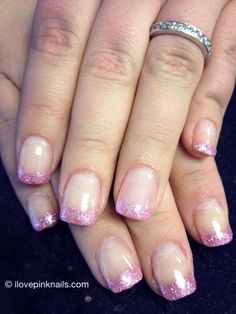 Pink French Rock Star Nails