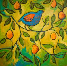 Partridge in a Pear Tree Painting at ArtistRising.com