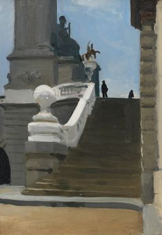 Two Figures at Top of Steps in Paris, Edward Hopper, 1906