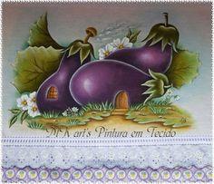 Essas casinhas de frutas pintei através dos riscos da Bia Moreira encontradas na internet... Achei lindo os riscos, mas como não tenho ...