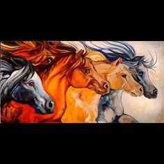 art of horses running | HORSE RUN - by Marcia Baldwin from Horses art exhibit