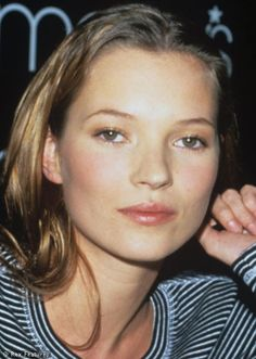 Kate Moss at a Calvin Klein promotional event c 1996.