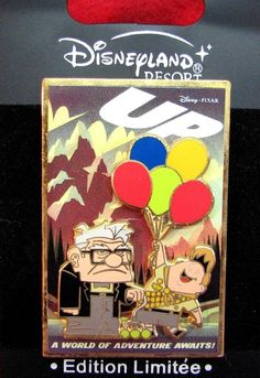 Disney Pin 70921 DLRP UP A World of Adventure Awaits! - Carl and Russell LE 900