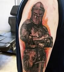Image result for knight forearm tattoo