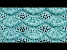 Alsacian Scallops A free knitting stitch pattern for this lovely stitch via Knitting Stitch Patterns. Click through the title link for the patternl. NOT for newbies. Lace Knitting Stitches, Lace Knitting Patterns, Knitting Charts, Lace Patterns, Free Knitting, Stitch Patterns, Knitting Videos, Knitting Tutorials, Knit Crochet